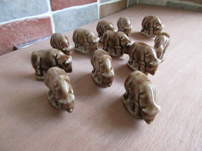 12 Wade Hippo Whimsies From The Noahs Ark Series