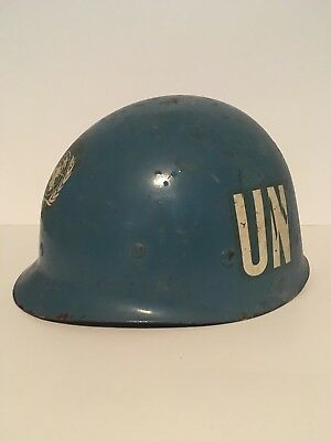 "Vintage United Nations Peacekeeper Helmet - Marked Inside ""CFN Guy G SD17565"""