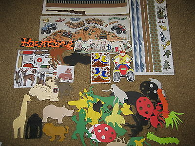 Scrapbooking Embellishments WHOLESALE LOT hunting offroad animals bugs outdoors