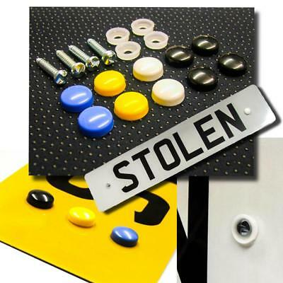 Number Plate Anti-Theft Security Fixing Screw Kit for Registration Plates