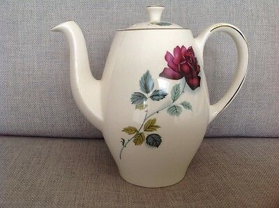 "Vintage "" Alfred Meakin"" tea pot decorated with a  rose"