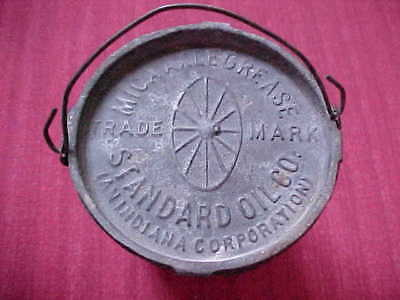"Standard Oil ~  ""mica Axle Grease"" ~ Small 4 Ounce Pail ~ Early 1900's"