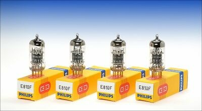 4 pcs. Philips E810F Special Quality gold pin tube driver DHT 300B 2A3 AD1 RE604