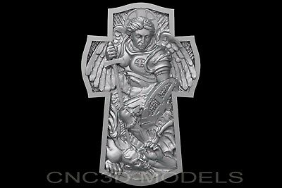 3D Model STL for CNC Router Engraver Carving Artcam Aspire Religion Cross c136