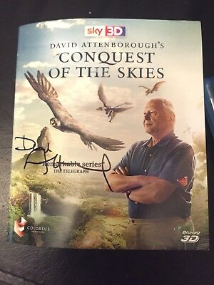 david attenborough signed Conquest Of The Skies Blu Ray
