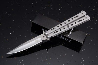 Coltello Butterfly Grey Steel Edc Survival Balisong Knives Benchmade