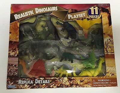 Realistic Dinosaurs. Playset 11 different Dinosaurs.New in the Box.