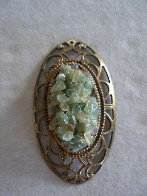 Vintage Light Green Lava Pendant - Hawaiian Volcano Diamond
