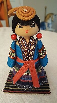 chinese she ethnic woman doll