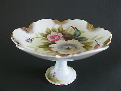 "Stunning! Cake/Pastry Stand--8"" across--Japan-Handpainted"