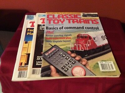 Lot Of (3) Classic Toy Trains Magazines