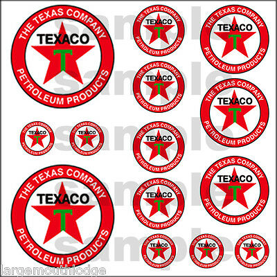 Texaco Hobbie Decals Decal Quality Waterslide Truck Train Diorama Layout