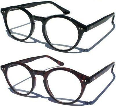 CLEAR LENS EYE GLASSES CHOOSE FRAME ROUND OVAL NERD Geek Hipster Retro Style NWT