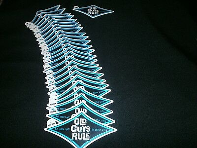 25 Old Guys Rule The Older I Get..better I Was Blue Diamond Beach Decal Stickers