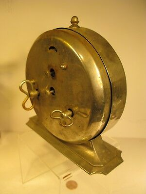 """INGRAHAM """"WARDS OLD RELIABLE"""" 8 DAY ALARM CLOCK ANTIQUE COLLECTIBLE Cabin Decor"""