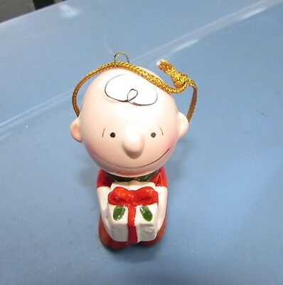 Charlie Brown Porcelain Christmas Ornament Figurine 1950s Beautiful Condition