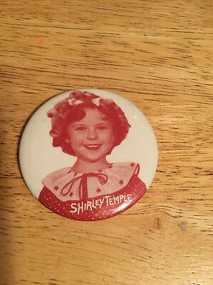 SHIRLEY TEMPLE Pin-Back Badge Button