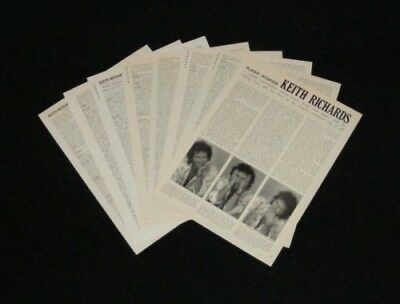 KEITH RICHARDS magazine clippings 1989 magazine interview