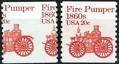 Fire Pumper 1860s MISPERF and Correct Stamp Set of 2 Both MNH Stamps Scotts 1908