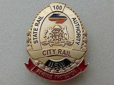State Rail Authority NSW City Rail Revenue Protection obsolete replica badge