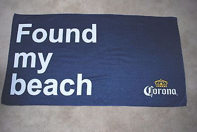 Corona Towel 24 X 44 Inches Found My Beach New Cloth Towel
