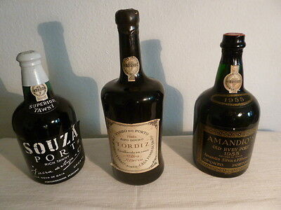1955 AMANDIO'S Old Ruby Port TORDIZ Ultra Reserva SOUZA Port Superior Rich Tawny