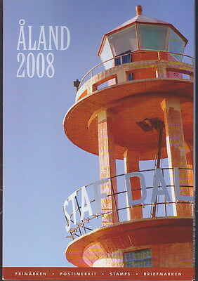 Aland Finland Official Complete Year Set 2008 MNH **