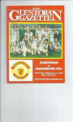 Glentoran v Manchester United Friendly Football Programme 1982/83