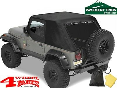 Emergency Top Notfall Softtop Verdeck Pavement Ends Jeep CJ + Wrangler YJ 80-91