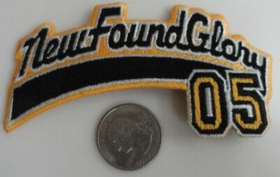 New Found Glory 05 Embroidered Iron On Patch (Pop Punk Band, Music) New