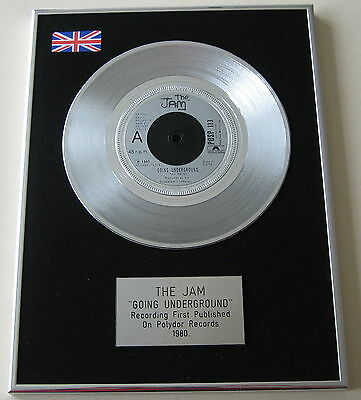 THE JAM Going Underground PLATINUM Disc Presentation