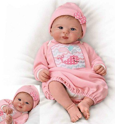 "Ashton Drake ""LITTLE SQUIRT""- LIFELIKE NEWBORN BABY DOLL-HAND ROOTED HAIR ! NEW"