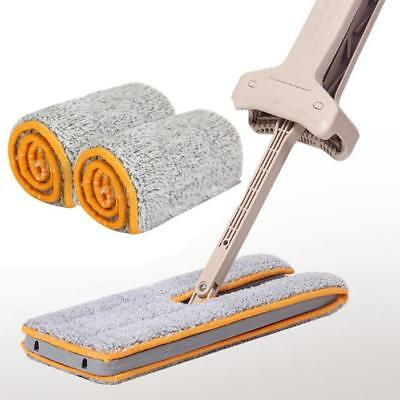 Double Sided Non Hand Washing Mop Accessories Dust Push Mop Cloth Clean Tool NEW