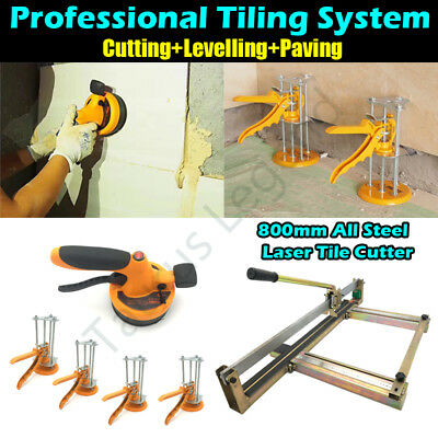 Professional Tiling System Incl. 800mm Tile Cutter & Power Paving Tool & Holder