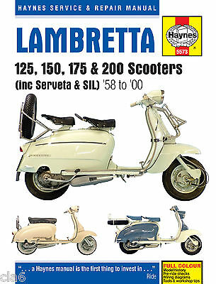 Lambretta Li TV GT SX DL GP 125 150 175 200 Workshop Manual 1958-2000 *NEW