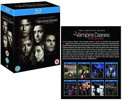 THE VAMPIRE DIARIES 1-8 (2009-2017): COMPLETE TV Season Series - Rg Free BLU-RAY