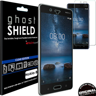 1x TECHGEAR (TPU) Clear FULL COVERAGE Screen Protector Cover for Nokia 8