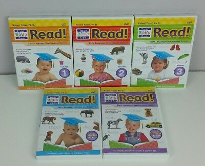 Your Baby Can Read! Early Language Development Series 5 DVD Set Lot
