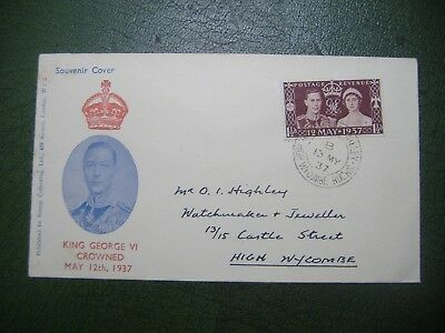GB 1937 Coronation Illustrated FDC