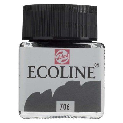 ECOLINE - PAINTING & DRAWING LIQUID WATERCOLOUR INK - DEEP GREY 30ml