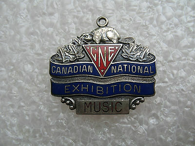 """Vintage - Canadian National Exhibition CNE Music Enamel Watch Fob """"Beaver"""""""