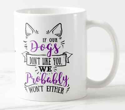 Personalised Dog Cat animal lover Mug cute birthday, funny can add message
