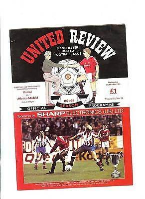 Manchester United v Atletico Madrid European Cup Winners Cup 1991/92