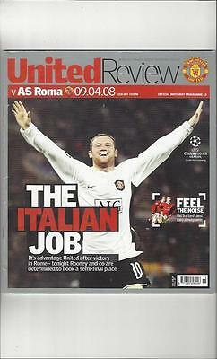 Manchester United v AS Roma Champions League 2007/08 Football Programme