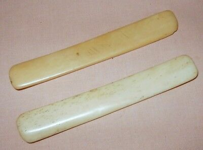 Small Pair of Vintage Domestic Animal Rhythm Bones: Traditional Percussion Music