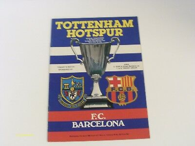 Spurs V Barcelona - Cup Winners Cup Semi Final - Prog - 7Th April 1982