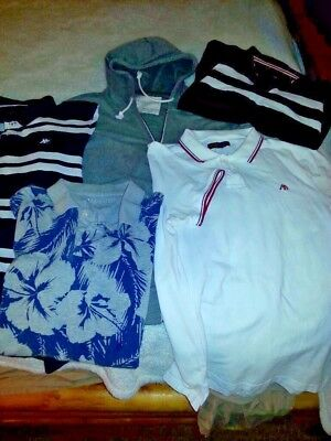 Lot of 5 Aeropostale Men's Shirts Size Extra Large Polo Shirts and Hoodie