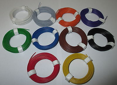 (0,1195 €/ M) Stranded Wire Flexible 18X0, 10 10 Rings A 10 Meter NEW