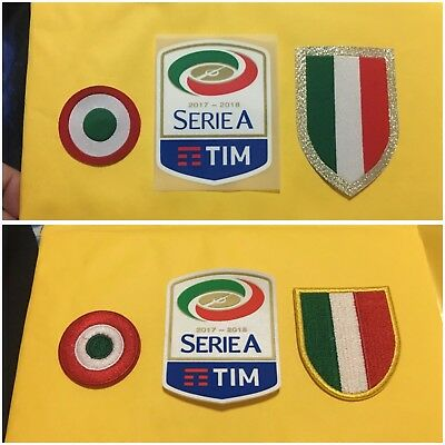 Serie A 17-18 Champion Scudetto Patch Set for Juventus Sleeve Patch 3-Piece Set