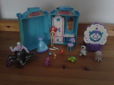 Polly Pocket Disneys Little Mermaid Playset Plus Figures And Accessories